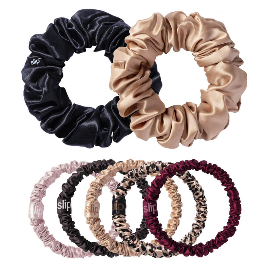 Slip - slip® pure silk scrunchies - Plum Rose Mega Set