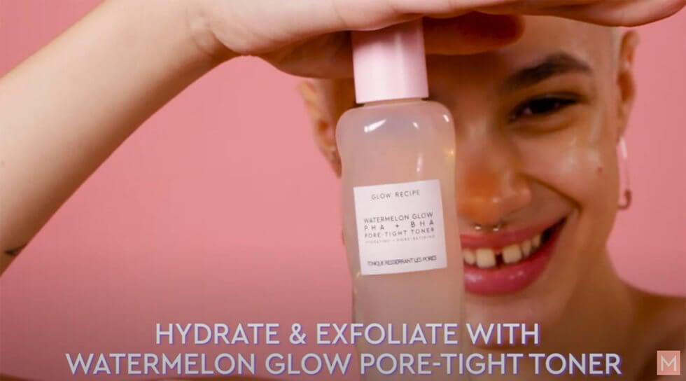 Watermelon Glow PHA+BHA Pore-Tight Toner, , video