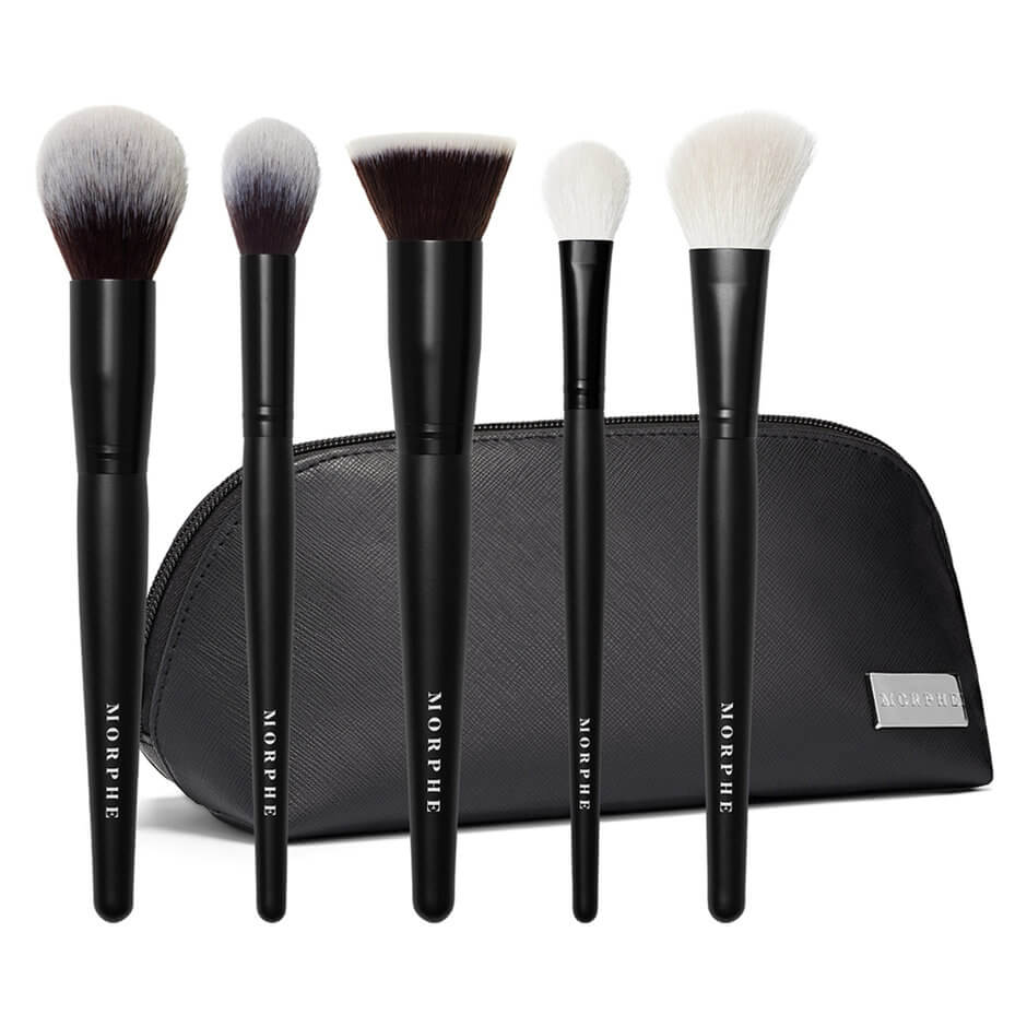 Face The Beat 5 Piece Face Brush Collection Bag Morphe Mecca One of the most popular morphe brushes, this tapered crease brush has just the right amount of fullness and. face the beat 5 piece face brush collection bag