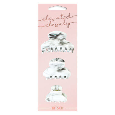 Kitsch - MARBLE SQUARE CLAW CLIPS