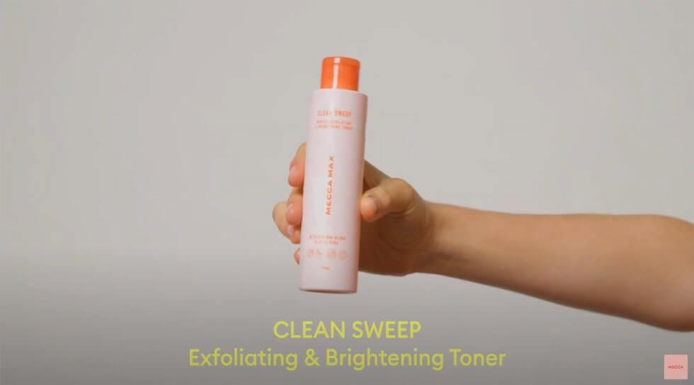 CLEAN SWEEP Gentle Exfoliating & Brightening Toner, , video
