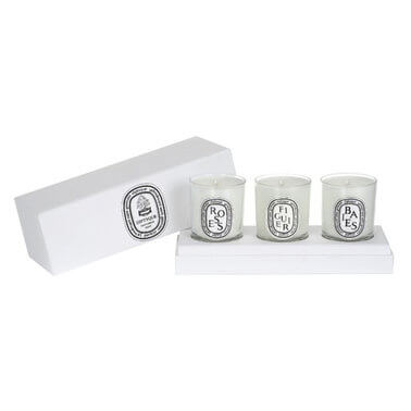 Diptyque - Set of Mini Candles (Baies, Figuier, Roses)